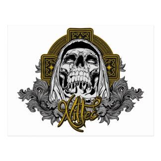 Cráneo en infierno postales