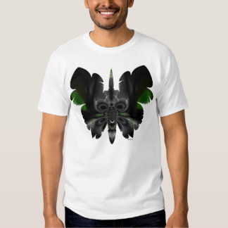 cráneo en la mariposa F11 Polera