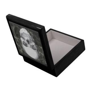 Cráneo en negro caja de joyas