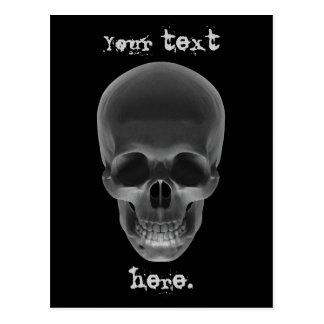 Cráneo en negro tarjeta postal