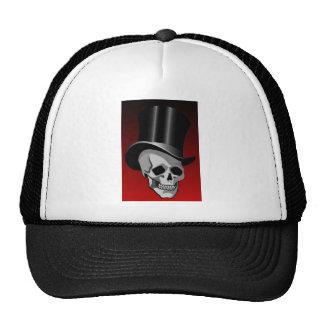 Cráneo en sombrero de copa gorros