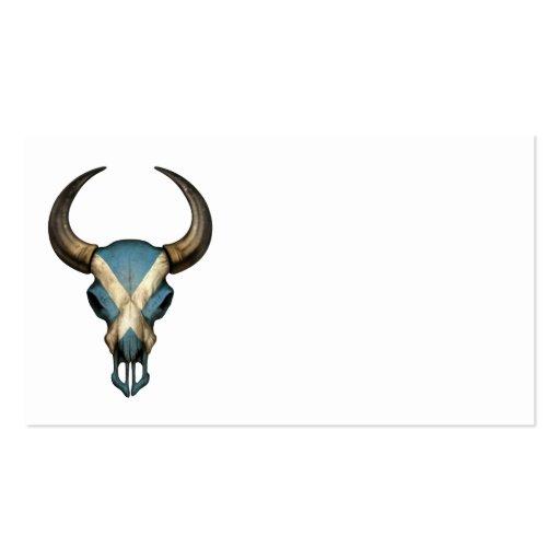 Cráneo escocés de Bull de la bandera Plantilla De Tarjeta De Visita