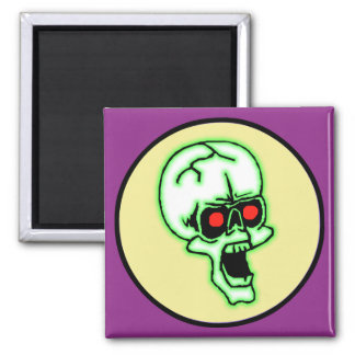 Cráneo espeluznante de Halloween Imán Cuadrado