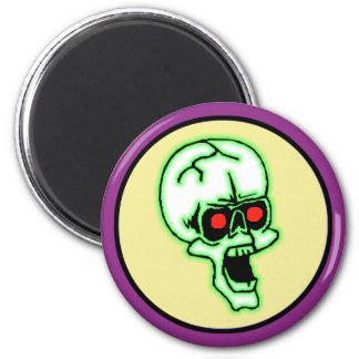 Cráneo espeluznante de Halloween Imán Redondo 5 Cm