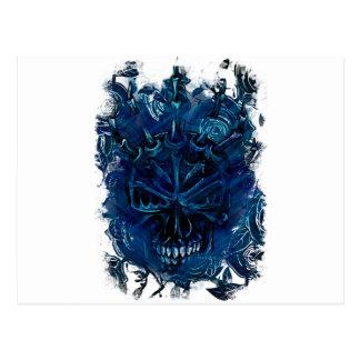 Cráneo espeluznante del horror tarjeta postal