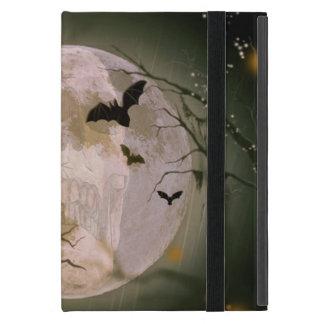 Cráneo espeluznante en Luna Llena con los pájaros  iPad Mini Carcasas