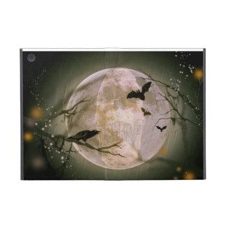 Cráneo espeluznante en Luna Llena con los pájaros  iPad Mini Funda