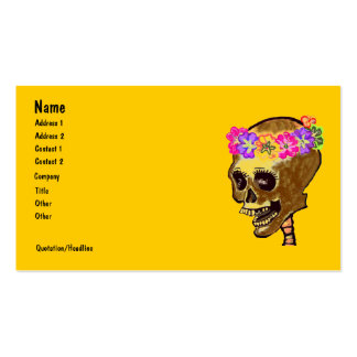Cráneo esquelético colorido tarjetas de visita