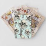 Cráneo eternamente dulce del lollipop barajas de cartas