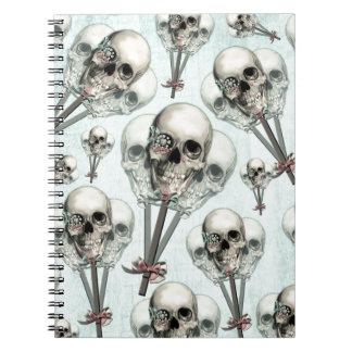 Cráneo eternamente dulce del lollipop libretas espirales