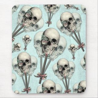 Cráneo eternamente dulce del lollipop alfombrilla de ratones