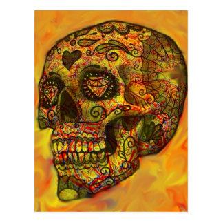 Cráneo, extracto, naranja postal