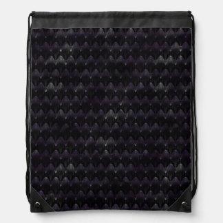 Cráneo extranjero cristalino púrpura mochilas