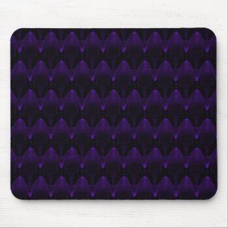 Cráneo extranjero de neón púrpura grande tapete de raton