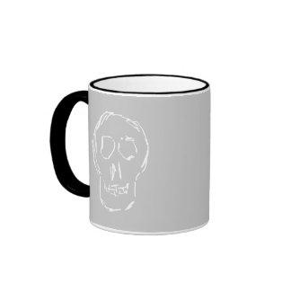 Cráneo extraño. Blanco. Bosquejo Taza De Café