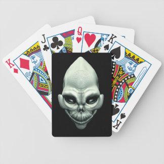 Cráneo extraterrestre extranjero marciano del espa baraja cartas de poker