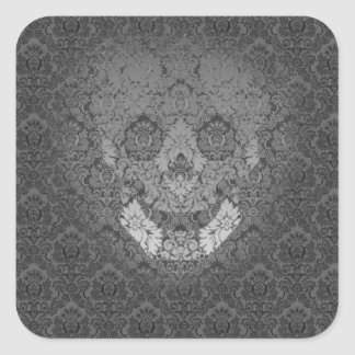 cráneo fantasmagórico pegatina cuadrada