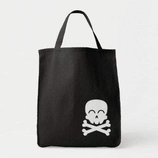 Cráneo feliz bolsa tela para la compra