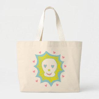 Cráneo feliz del amor bolsa