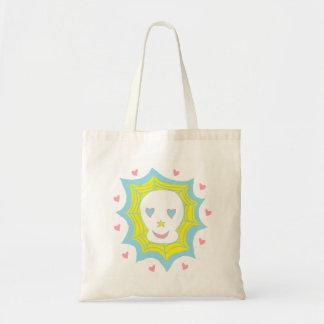 Cráneo feliz del amor bolsas