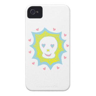 Cráneo feliz del amor Case-Mate iPhone 4 protectores