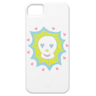 Cráneo feliz del amor iPhone 5 Case-Mate cárcasa