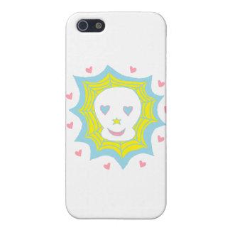 Cráneo feliz del amor iPhone 5 protectores