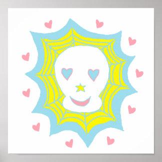 Cráneo feliz del amor poster