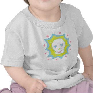 Cráneo feliz del amor camisetas