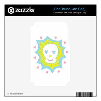 Cráneo feliz del amor iPod touch 4G calcomanía