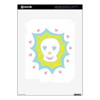 Cráneo feliz del amor iPad 3 pegatina skin