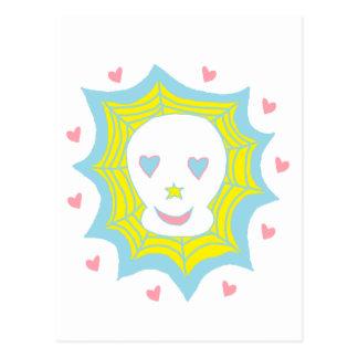 Cráneo feliz del amor postal