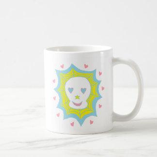 Cráneo feliz del amor tazas de café