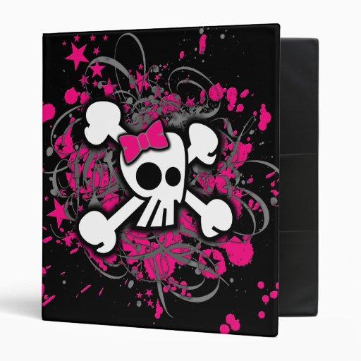 "Cráneo femenino de la bandera pirata carpeta 1"""