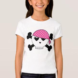 Cráneo femenino del pirata poleras