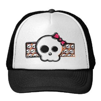 Cráneo femenino gorras