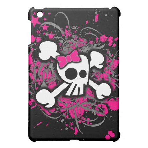 Cráneo femenino y bandera pirata