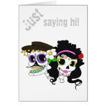 Cráneo festivo mexicano tarjeta de felicitación