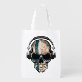 Cráneo finlandés adaptable de DJ con los Bolsa Para La Compra