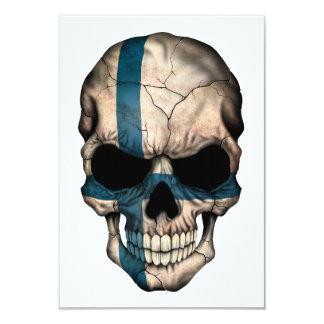 """Cráneo finlandés adaptable de la bandera invitación 3.5"""" x 5"""""""