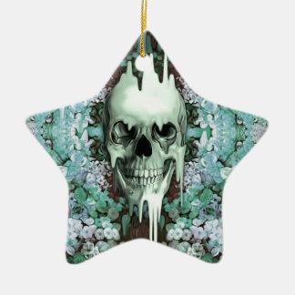 Cráneo floral del azúcar de la menta ornamentos para reyes magos