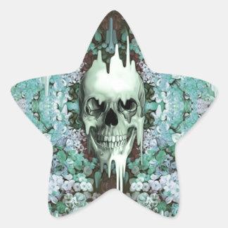 Cráneo floral del azúcar de la menta colcomanias forma de estrella