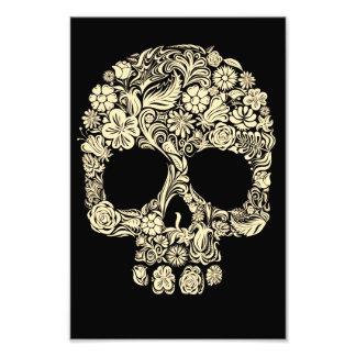 Cráneo floral del azúcar del vintage cojinete