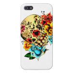 Cráneo floral del azúcar iPhone 5 coberturas