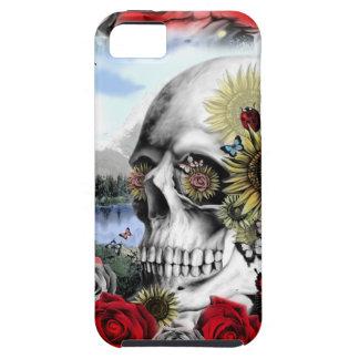Cráneo floral del paisaje iPhone 5 fundas