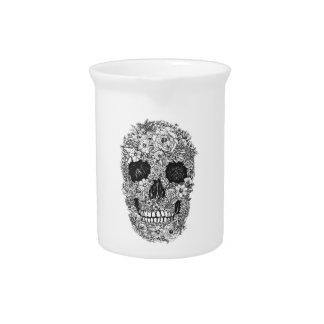 Cráneo floral jarras para bebida