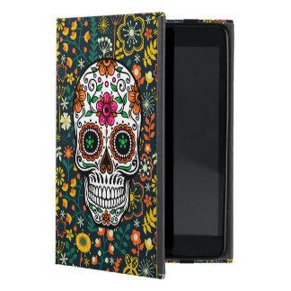 Cráneo floral retro colorido del azúcar iPad mini protector