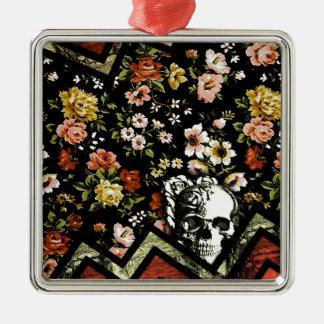 Cráneo floral rojo del galón