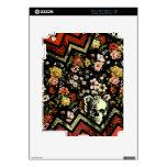 Cráneo floral rojo del galón calcomanías para iPad 2