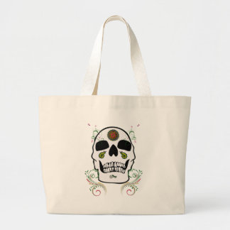 Cráneo floreado 2 bolsa de mano